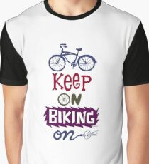 Keep On Riding On - Colors   Graphic T-Shirt
