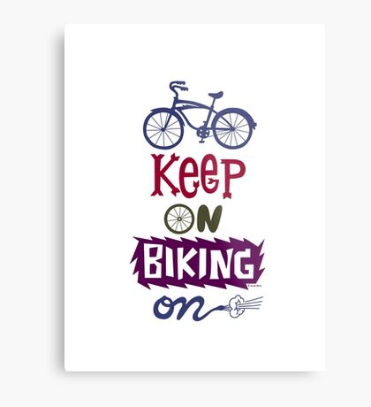 Keep On Riding On - Colors   Metal Print
