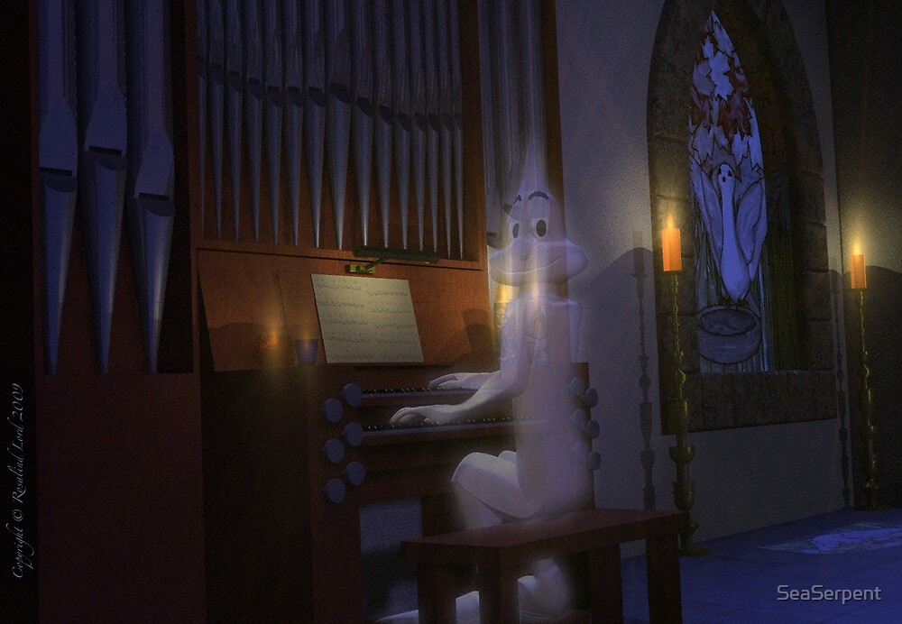 Ghost Playing Organ by SeaSerpent