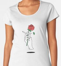 hand holding cigarette and rose Women's Premium T-Shirt