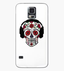 Sugar Skull with Headphones Case/Skin for Samsung Galaxy