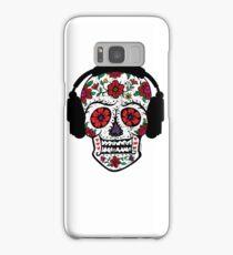 Sugar Skull with Headphones Samsung Galaxy Case/Skin