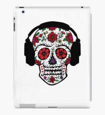 Sugar Skull with Headphones iPad Case/Skin