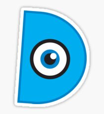Monster Alphabet - D Sticker