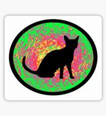 Funky Feline Sticker