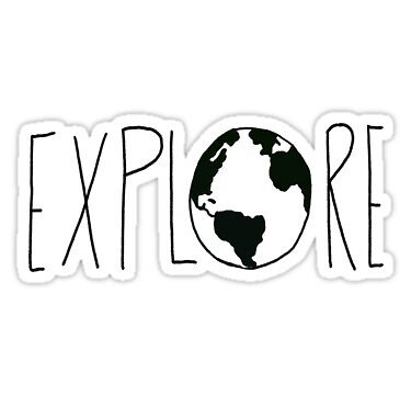Explore the Globe or World Sticker by evonwaldner