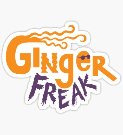 Ginger Freak Sticker