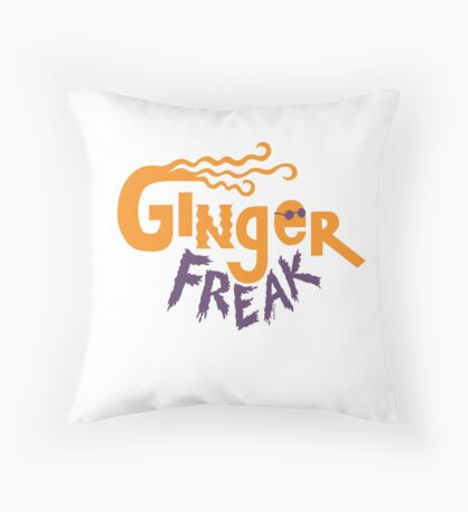 Ginger Freak Throw Pillow