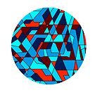 Refracted Geometric Abstraction Circle by camzhu