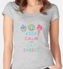 Keep Calm and Eat Sweets 2 Women's Fitted Scoop T-Shirt