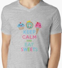 Keep Calm and Eat Sweets 2 Mens V-Neck T-Shirt
