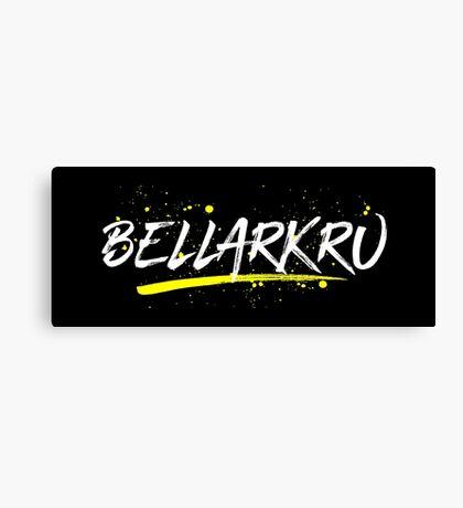 Bellarkru (White Text) Canvas Print