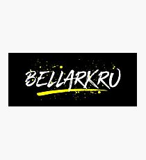 Bellarkru (White Text) Photographic Print