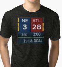 Falcons Lead 28-3 Tri-blend T-Shirt