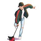 Clumsy dog walks by JuditMallolArt