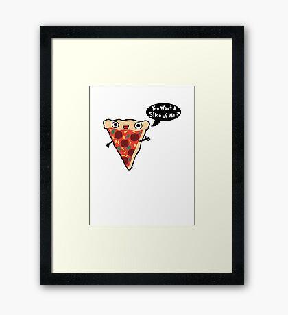 Pizza Monster 2 Framed Print