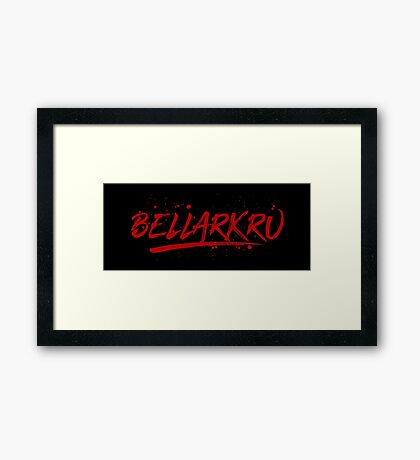 Bellarkru (Red Text) Framed Print