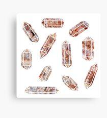 Pink crystals Canvas Print