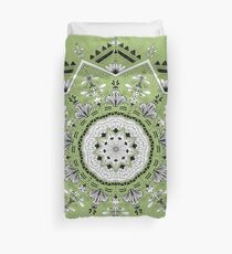 Star Mandala Green Duvet Cover