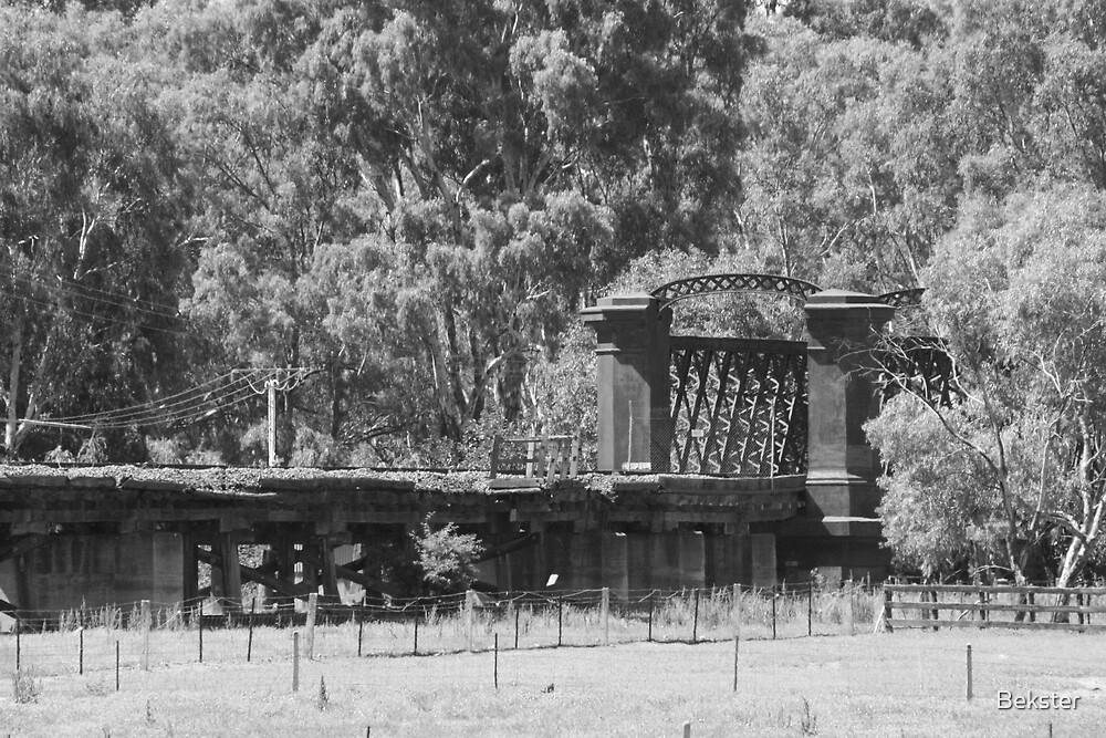 Closed rail bridge by Bekster