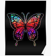 Psychedelischer Schmetterling Poster