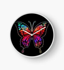 Psychedelic Butterfly Clock