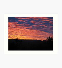 Sunset Innisfail Art Print