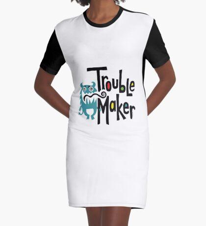 Trouble Maker born bad 2 Graphic T-Shirt Dress