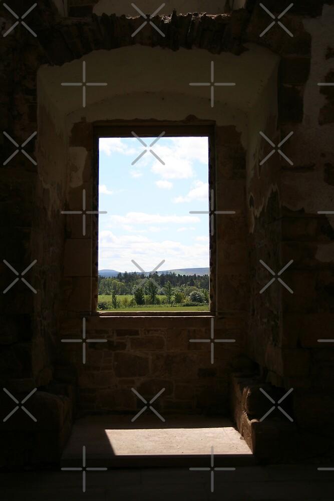 Window at Spynie Palace by kadoh