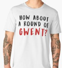 How About a Round of Gwent? (The Witcher) (Black & Red) Men's Premium T-Shirt