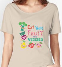 Eat your Fruit and Veggies - beige Women's Relaxed Fit T-Shirt