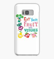Eat your Fruit and Veggies - beige Samsung Galaxy Case/Skin