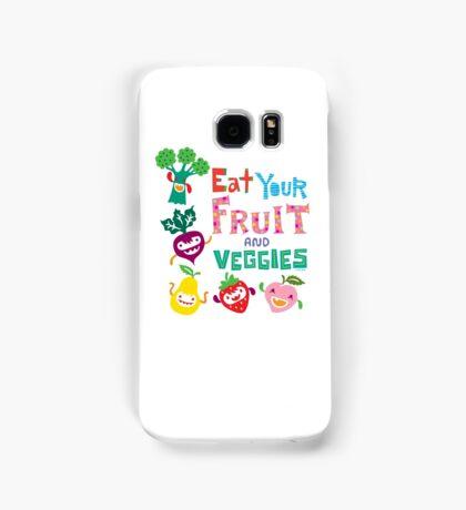 Eat your Fruit and Veggies - beige Samsung Galaxy Case/Skin