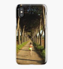 Running trees iPhone Case/Skin