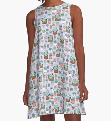 Succulent Love A-Line Dress