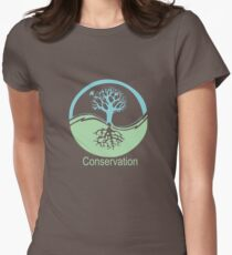 Conservation Tree Symbol aqua green Womens Fitted T-Shirt