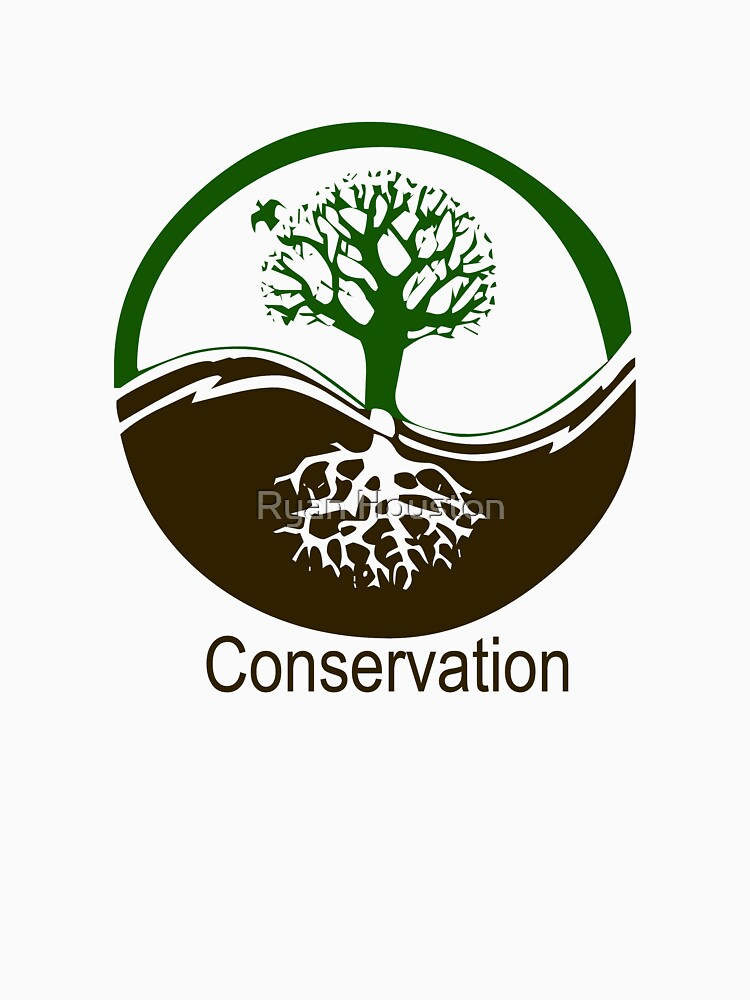 Conservation Tree Symbol brown green by photoforyou