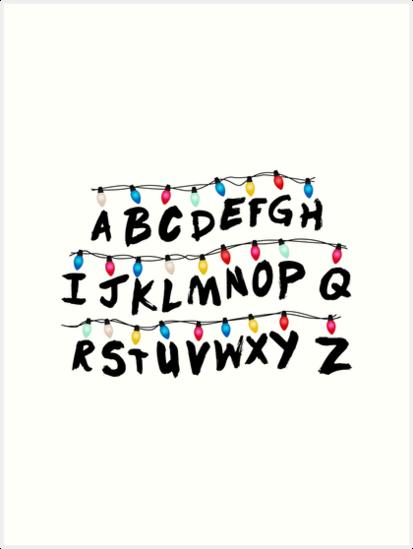 Stranger Things   Alphabet Wall By Enduratrum Part 81