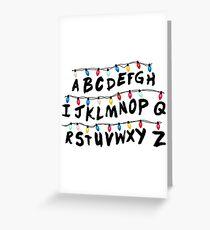 Stranger Things - Alphabet Wall Greeting Card