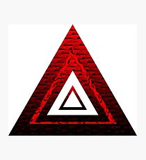 Ruby Rose Pyramid Photographic Print