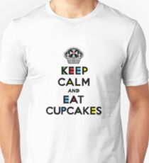 Keep Calm and Eat Cupcakes - mondrian  Unisex T-Shirt