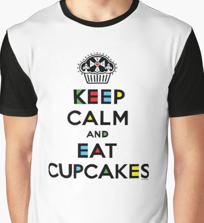 Keep Calm and Eat Cupcakes - mondrian  Graphic T-Shirt