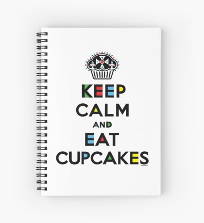 Keep Calm and Eat Cupcakes - mondrian  Spiral Notebook