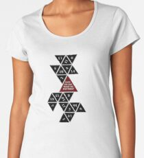 Flattened D20 - Dungeons and Dragons - Critical Role Fan Design Women's Premium T-Shirt