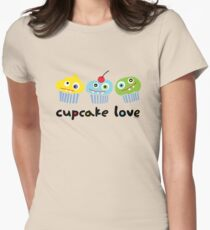 Cupcake Love - beige Womens Fitted T-Shirt