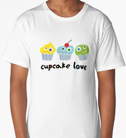 Cupcake Love - beige Long T-Shirt