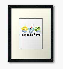 Cupcake Love - beige Framed Print