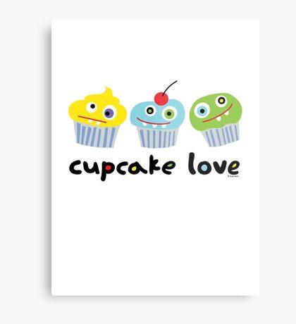 Cupcake Love - beige Metal Print