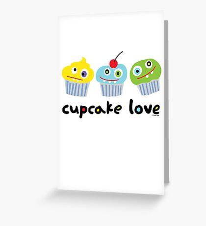 Cupcake Love - beige Greeting Card