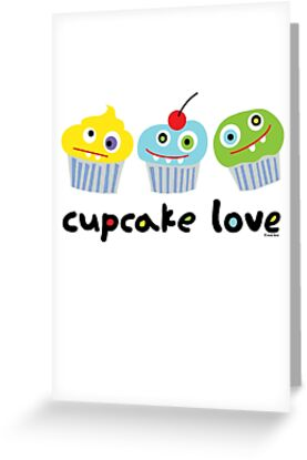 Cupcake Love - beige by Andi Bird
